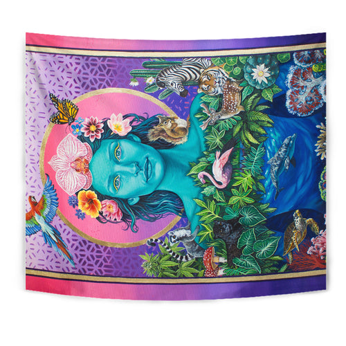 Mother Earth Vibration  - Wall Tapestry