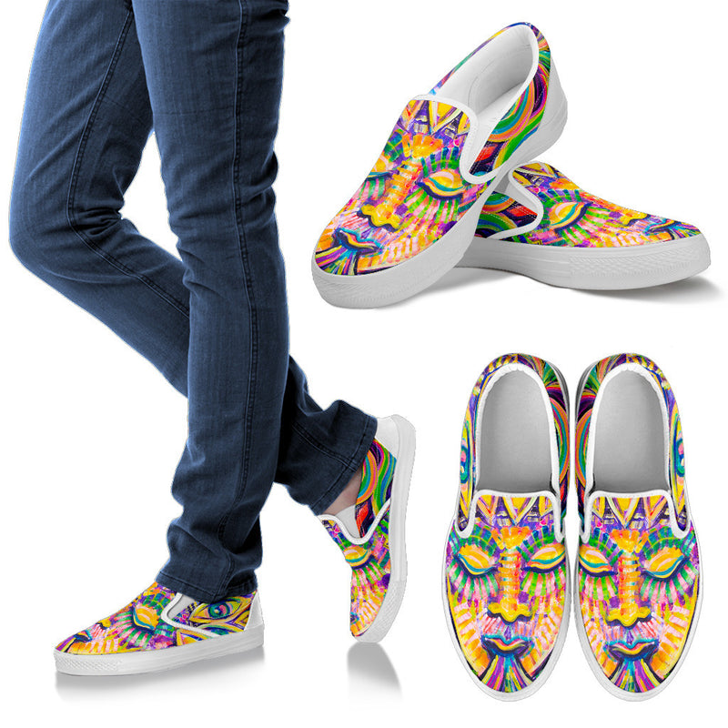 Eye Breath - Vegan Women's Slip Ons