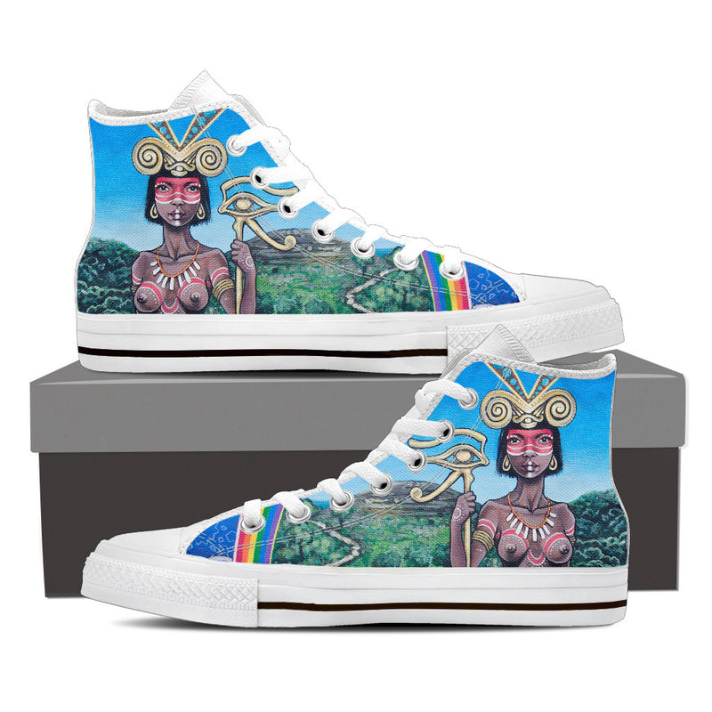The Centaur - Women's High Top Canvas Shoe