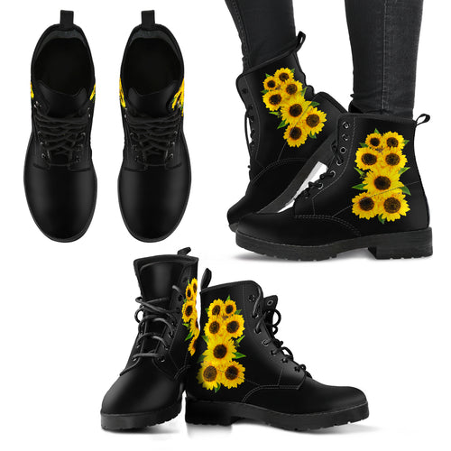 Sunflower Bouquet  -  Vegan Women's Boots