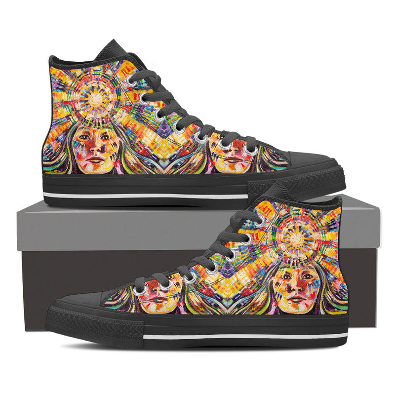 Pacha Mama - Men's High Top Canvas Shoe