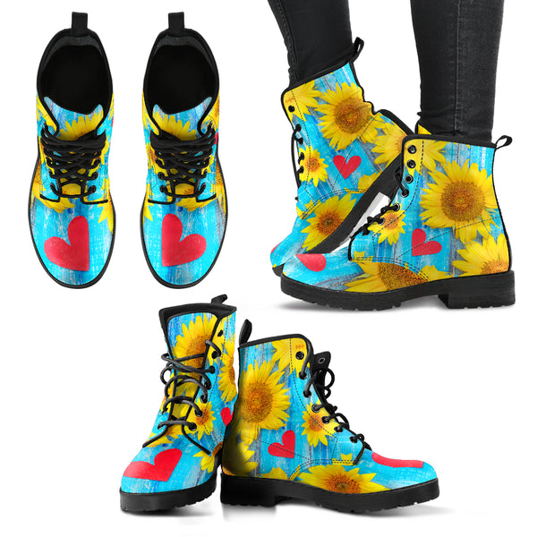 Sunflower Love - Vegan Women's Boots