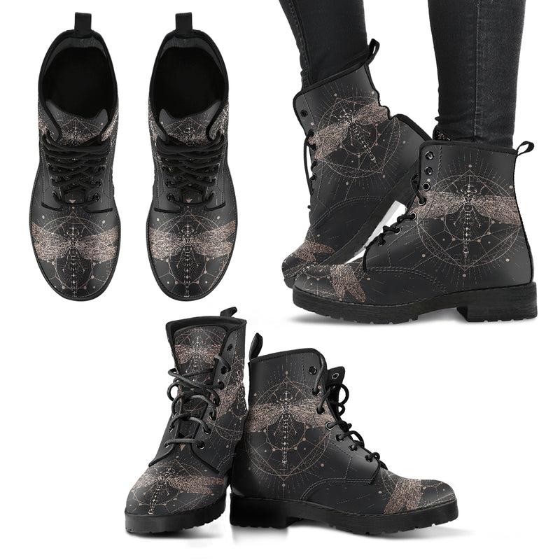 Black Dragonfly Handcrafted  Boots