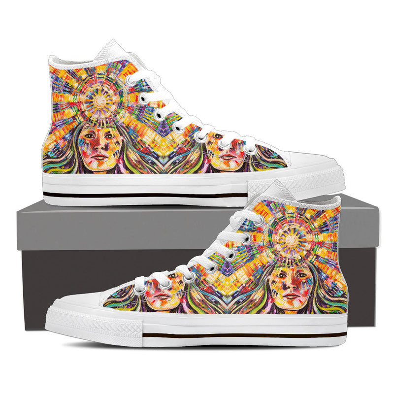 Pacha Mama - Women's High Top Canvas Shoe