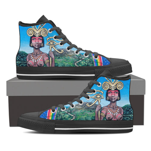 The Centaur - Vegan Men's High Top Canvas Shoes