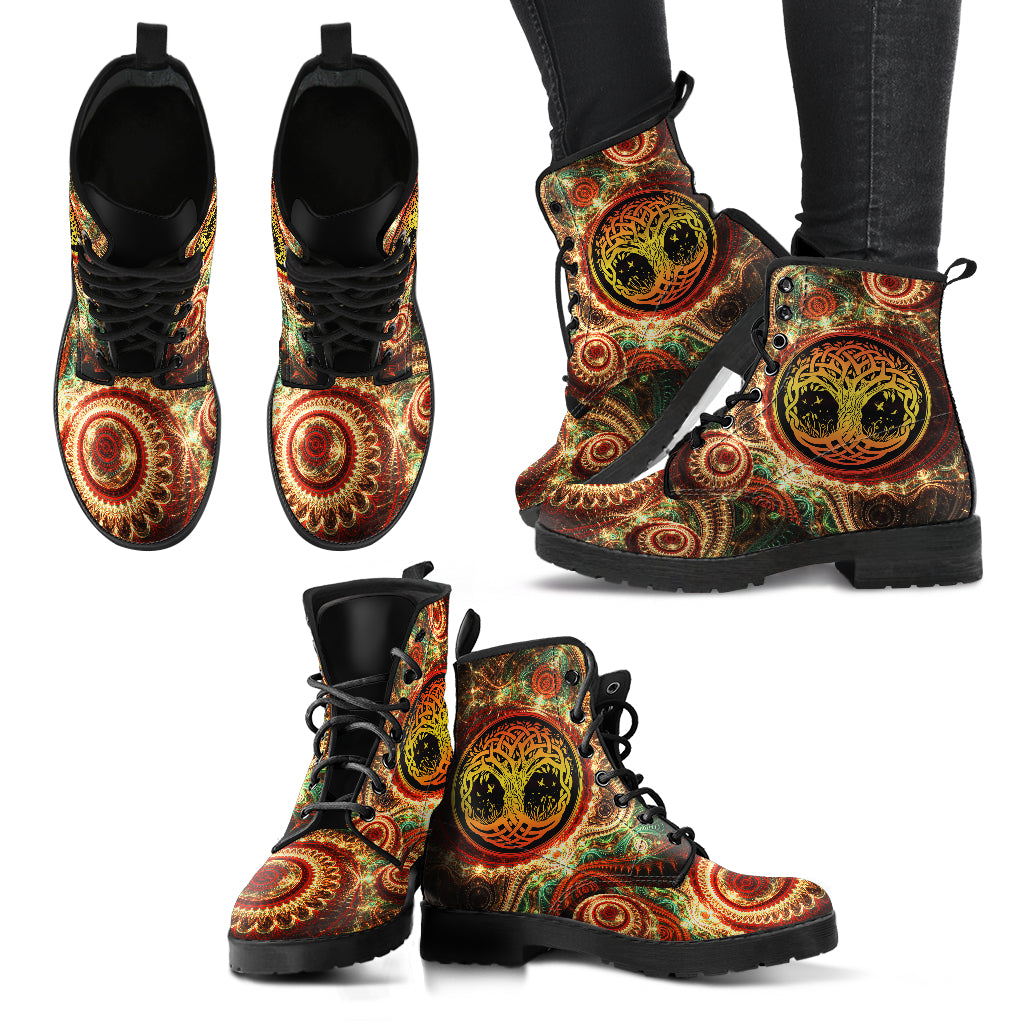 Tree Of Life  - Vegan Women's Boots