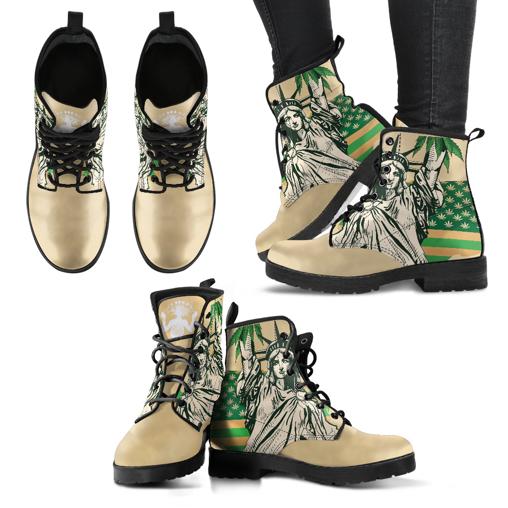 Cannabis Statue of Liberty - Vegan Women's Boots I