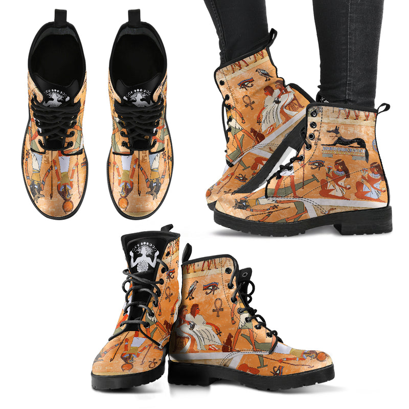 Egyptian Scroll - Vegan Women's Boots