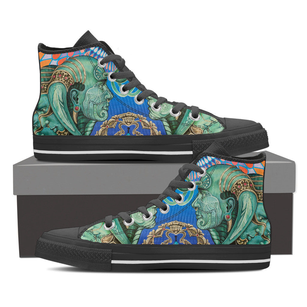 Reflection Reaction - Men's Vegan High Top Canvas Shoes