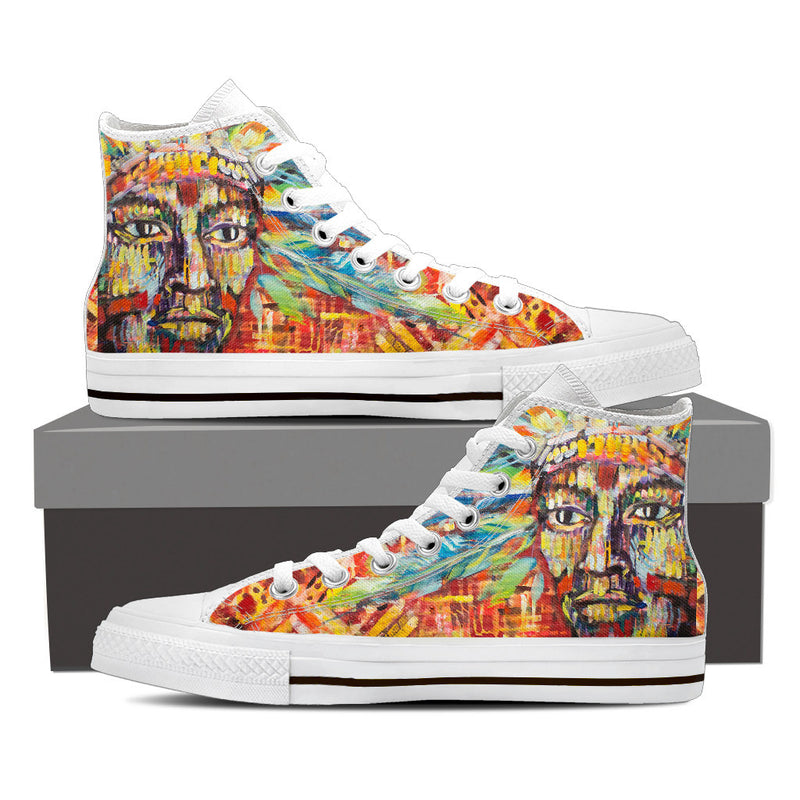 The Watcher - Women's High Top Canvas Shoes