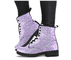 Purple Fractals - Vegan Women's Boots