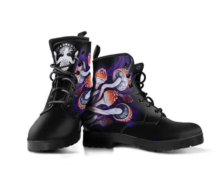 Purple Shrooms - Vegan Women's Boots