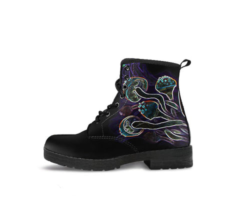 Glowing Shrooms - Vegan Women's Boots
