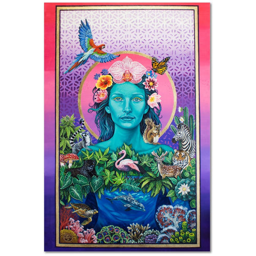 Mother Earth Vibration - Premium Canvas Gallery Wrap Print