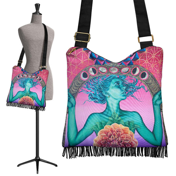 The Gate Of Knowledge - Crossbody Boho Handbag