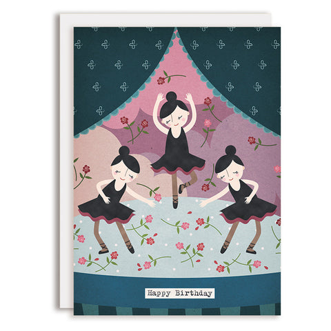 RD0058 - Happy Birthday - Ballerinas