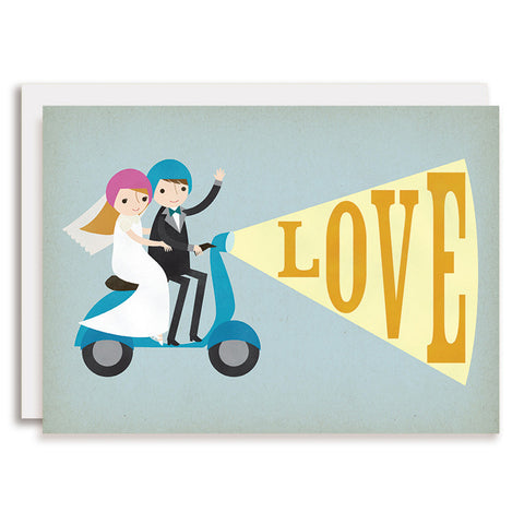 RD0066 - Moped LOVE - Bride & Groom