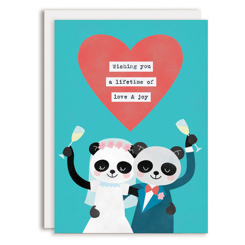 RD0091 - Wedding Cheers - Panda Bears