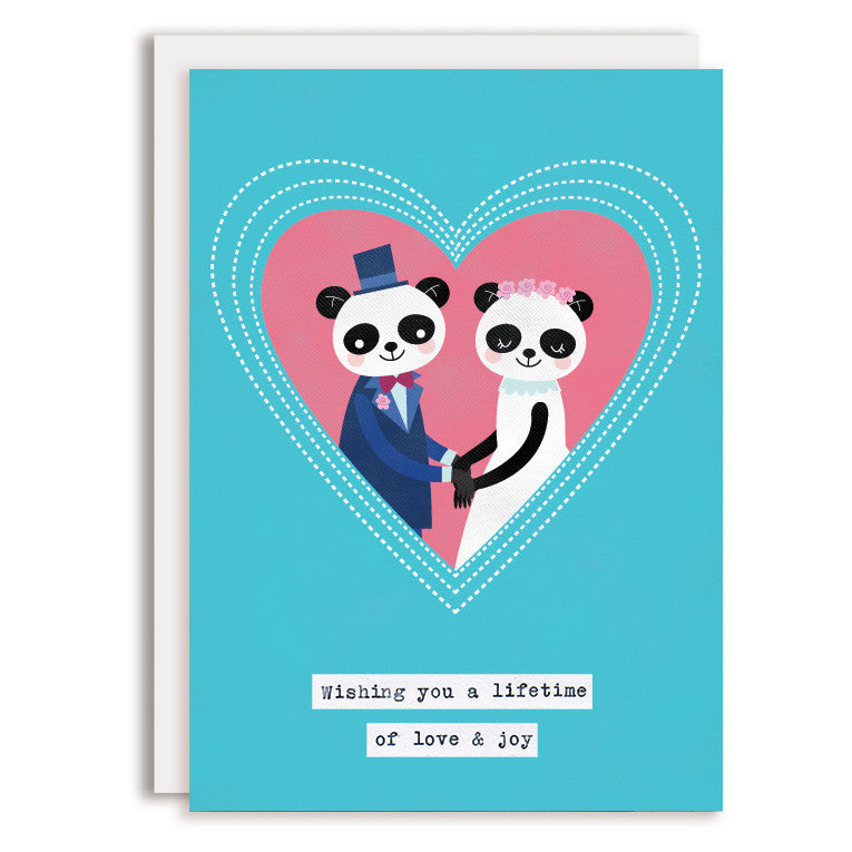 RD0093 - Pink Heart Wedding - Pandas