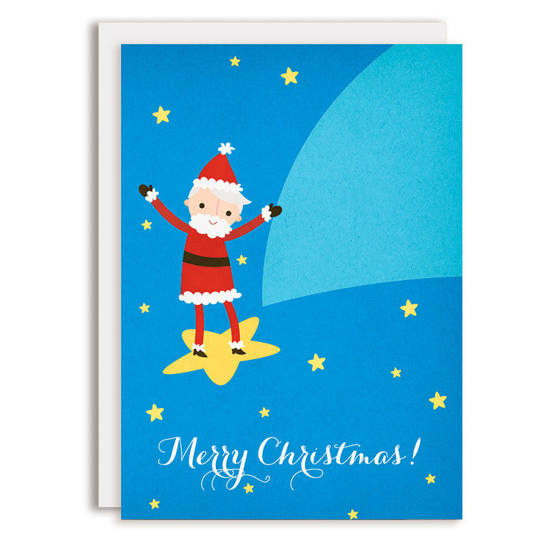 RD0123 - Merry Christmas - Shooting Star Santa