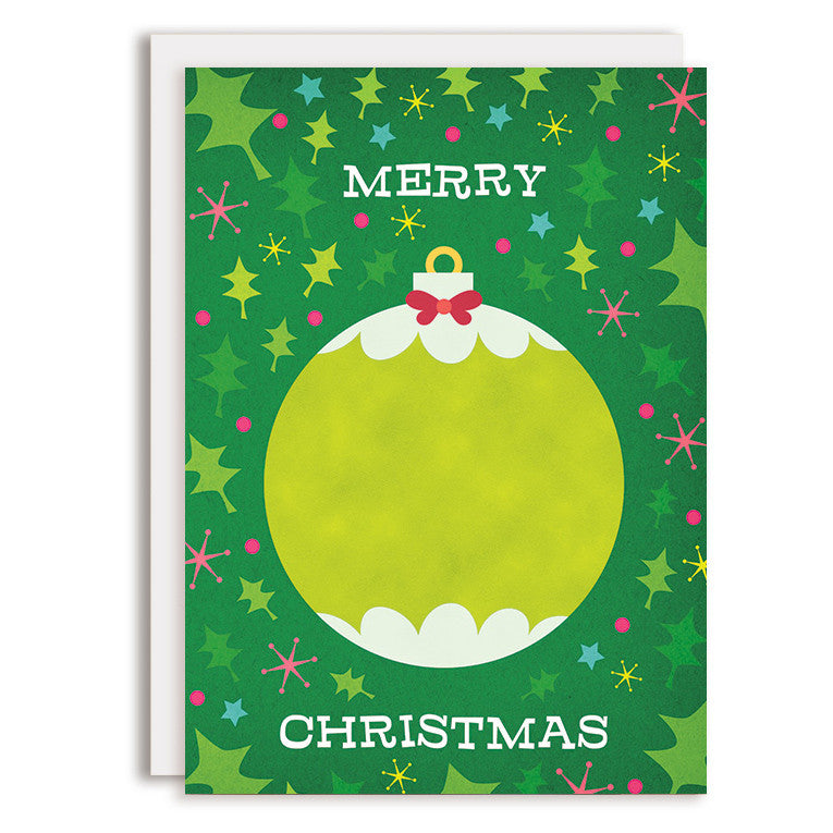 RD0128 - Merry Christmas - Green Ornament