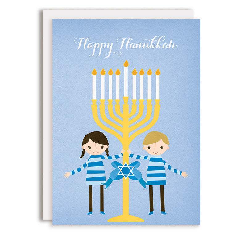 RD0136 - Happy Hanukkah - Boy & Girl