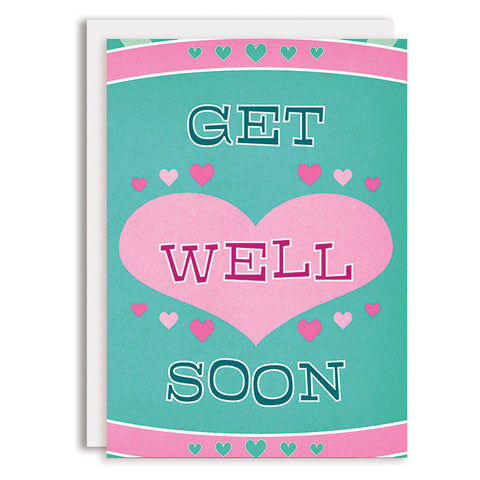 RD0141 - Get Well - Retro Hearts
