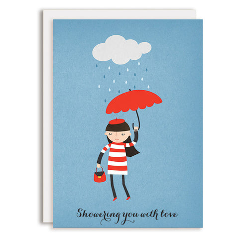 RD0150 - Rain Showers - Red Umbrella