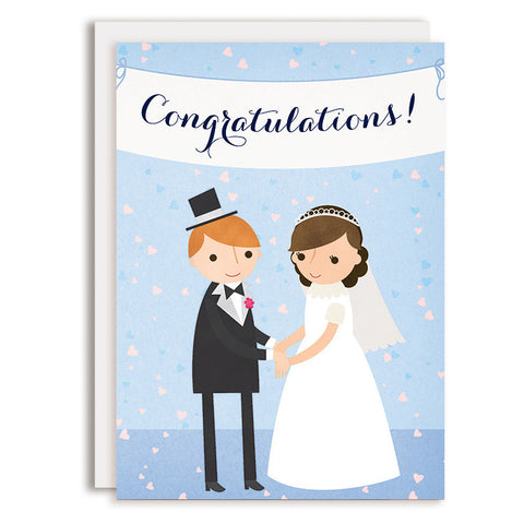 RD0159 - Congratulations Wedding Banner - Bride & Groom