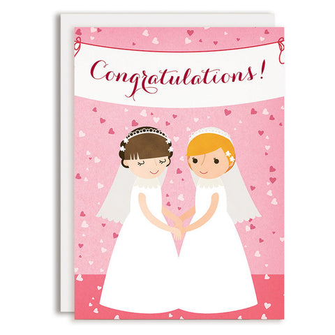 RD0160 - Congratulations Wedding Banner - Bride & Bride
