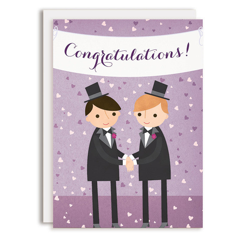 RD0161 - Congratulations Wedding Banner - Groom & Groom