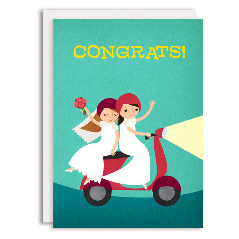 RD0201 - Moped Congrats - Two Brides