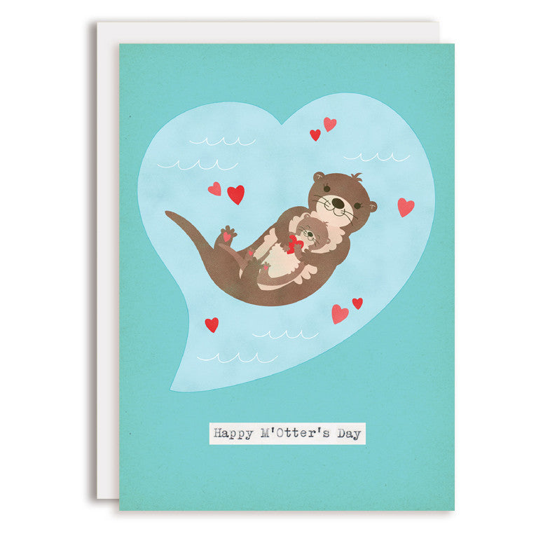RD0203 - Happy M'Otter's Day - Mother's Day Greeting Card