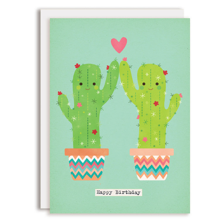 RD0204 - Cacti High Five - Happy Birthday Greeting Card