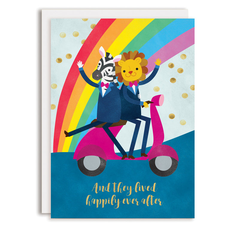RD0207 - Moped Animal Grooms - Happily Ever After