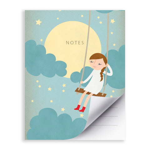 RDN001 - Moonlight Swing - 4.25x5.5 Notepad - MOQ: 5