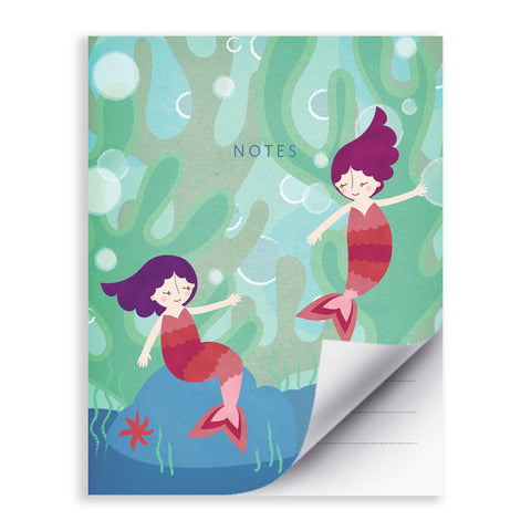 RDN002 - Mermaids - 4.25x5.5 Notepad - MOQ: 5