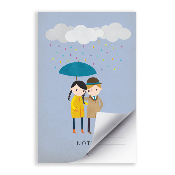 RDN005 - Rainy Day Love 2 - 5.5x8.5 Notepad - MOQ: 5