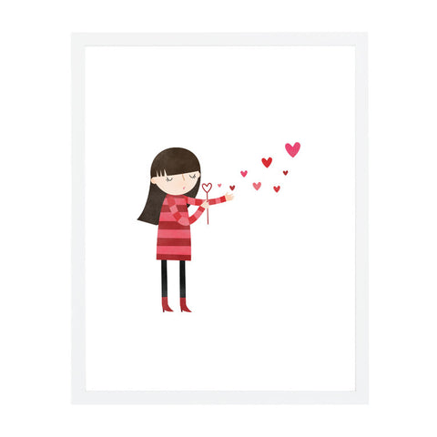 RDP001 - Blowing Kisses - 8x10 Art Print - MOQ: 3