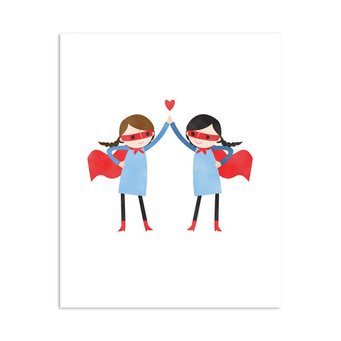RDP002 - Super High Five Girls - 8x10 Art Print - MOQ: 3