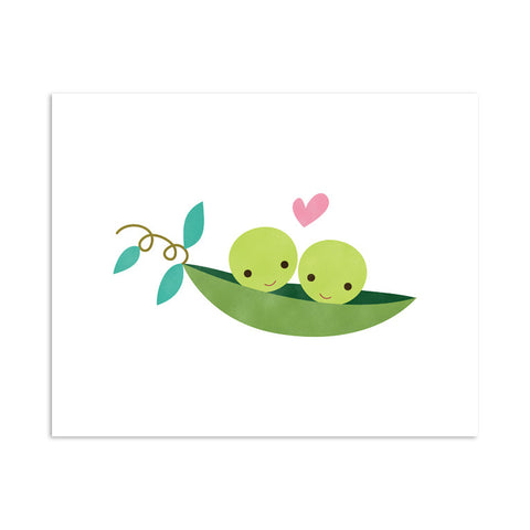 RDP005 - Two Peas in a Pod - 8x10 Art Print - MOQ: 3