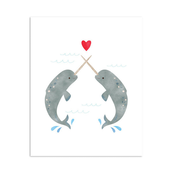 RDP009 - Narwhals in Love - 8x10 Art Print - MOQ: 3
