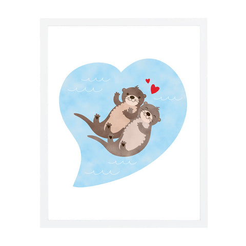 RDP010 - Otterly Lovely - 8x10 Art Print - MOQ: 3