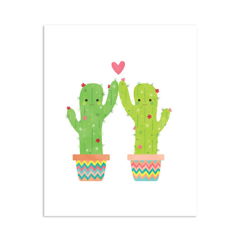 RDP012 - Cacti High Five - 8x10 Art Print - MOQ: 3