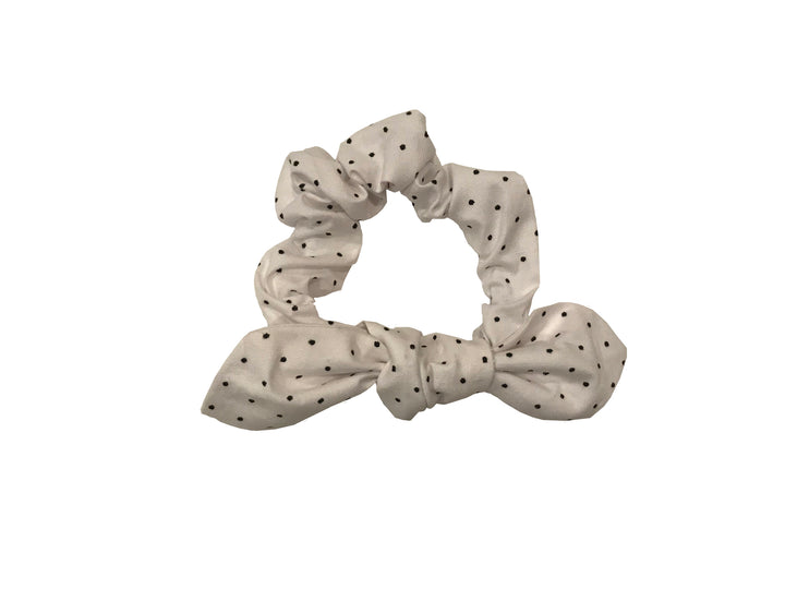 PIN DOT BOW SCRUNCHIE