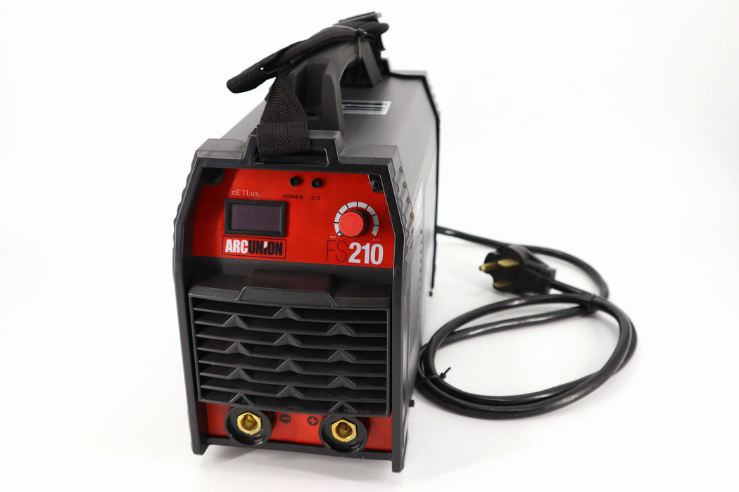 Arc Union DC 210 amp Professional Dual Voltage Input IGBT Stick Welder Package 115v 230v