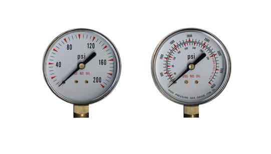 "Regulator Repair Replacement Gauges For Oxygen -2"" x 200 psi & 4000 psi Welding"