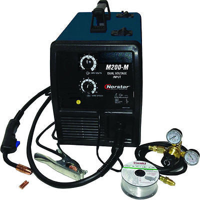 REFURBISHED Coplay-Norstar Dual Voltage Input MIG Welder Package M200M-