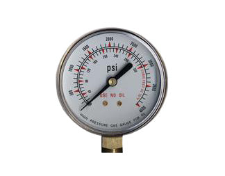 "Regulator Repair Replacement Gauge For Oxygen -2"" x 4000 psi Welding"