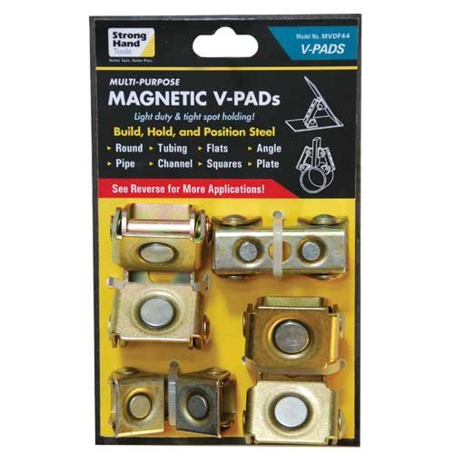 new Strong hand Tools MVDF44 Adjustable Magnetic V-Pads, 4-Piece